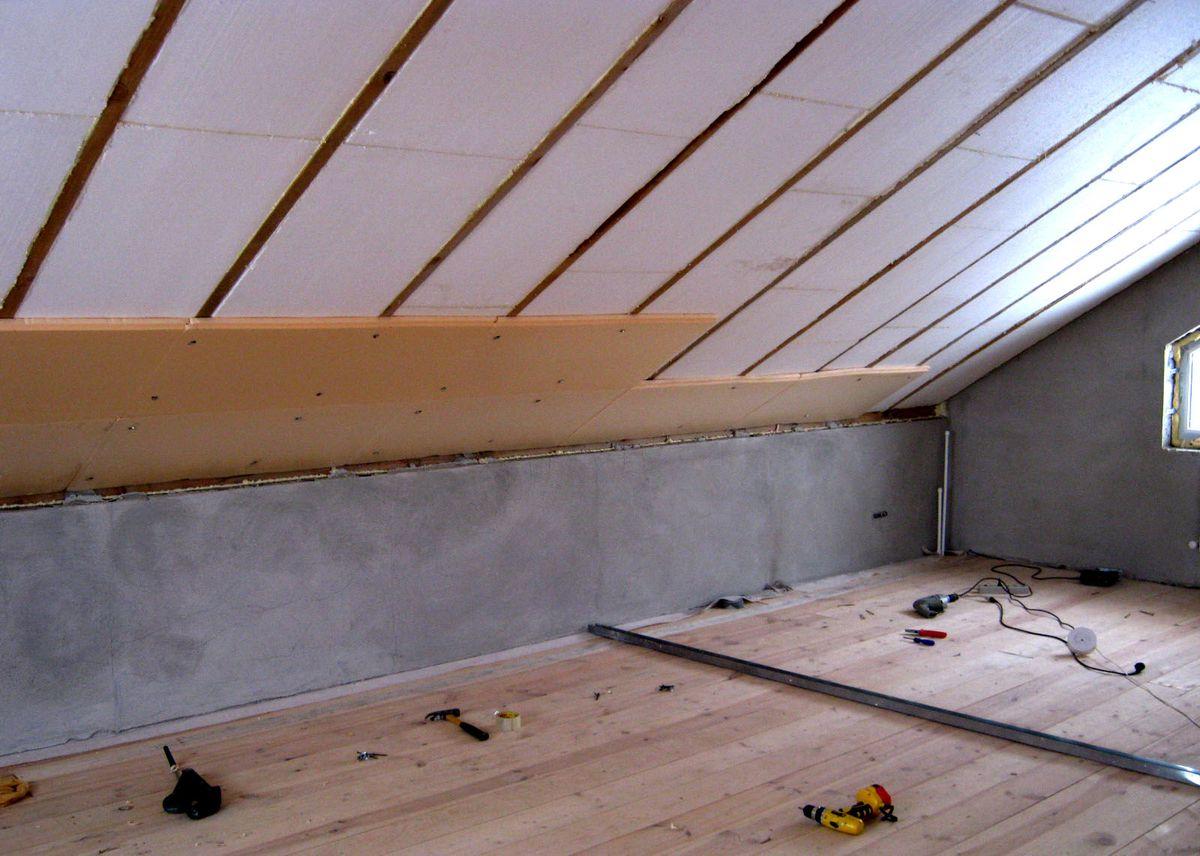 Утепление чердака и крыши в частном доме пеноплексом