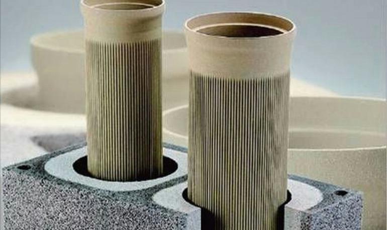 Конструкция дымоходной системы из керамической трубы