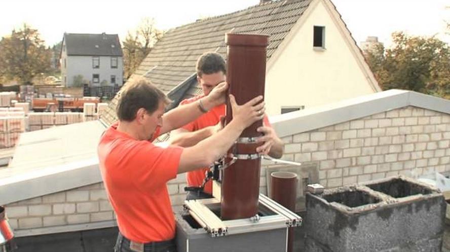 Требования к установке керамического дымохода
