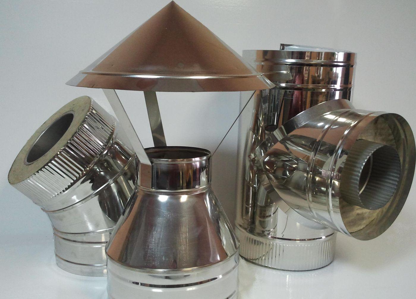 Изготовление дымоотводов из стали-оцинковки
